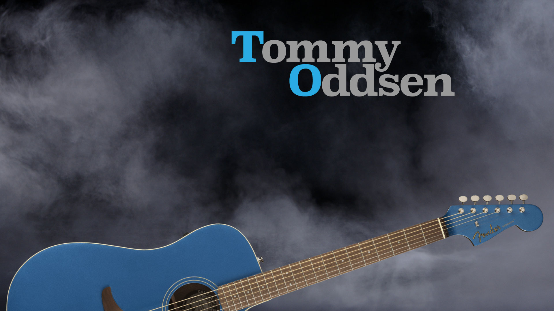 Tommy Oddsen logo and guitar
