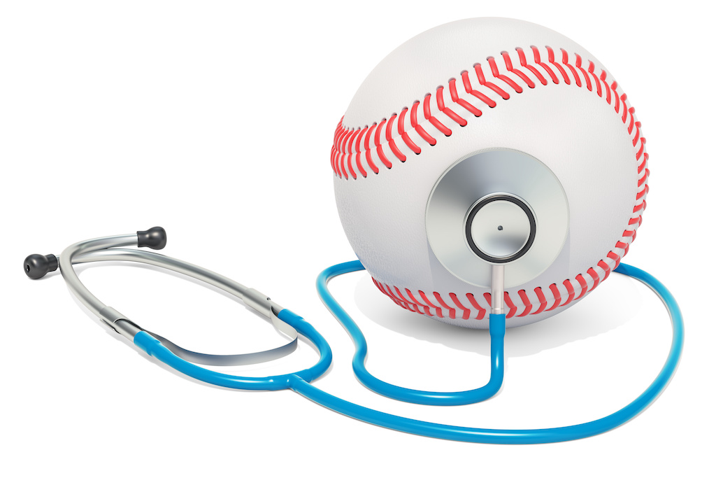 baseball and stethoscope